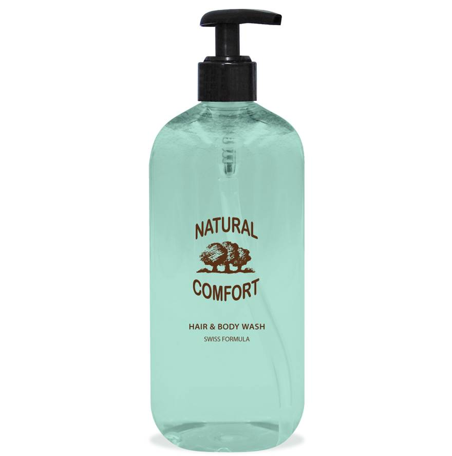 Natural Comfort Hair & Body Wash 500ml Dispenser
