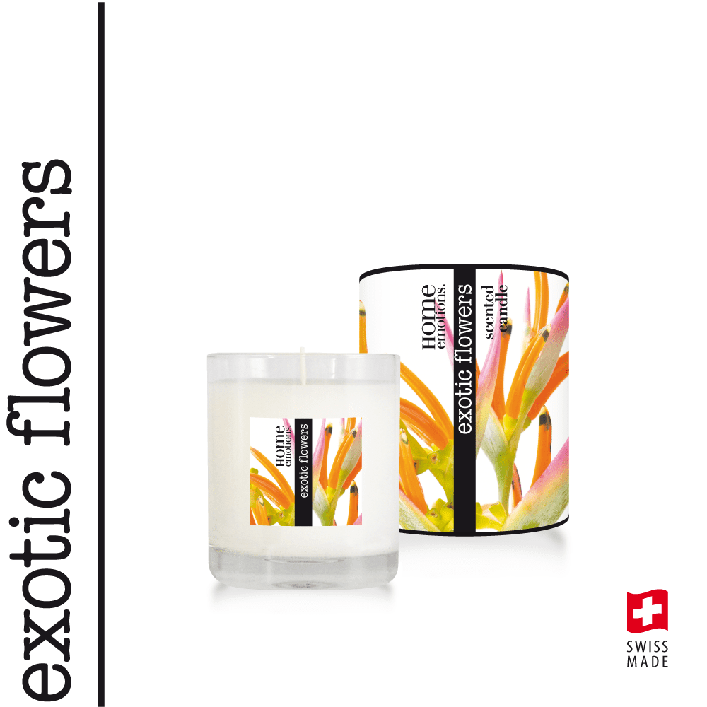 Home Emotions Scented Candle 190g Exotic Flowers